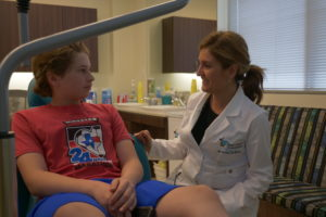 Dr. Adriana talking with a patient
