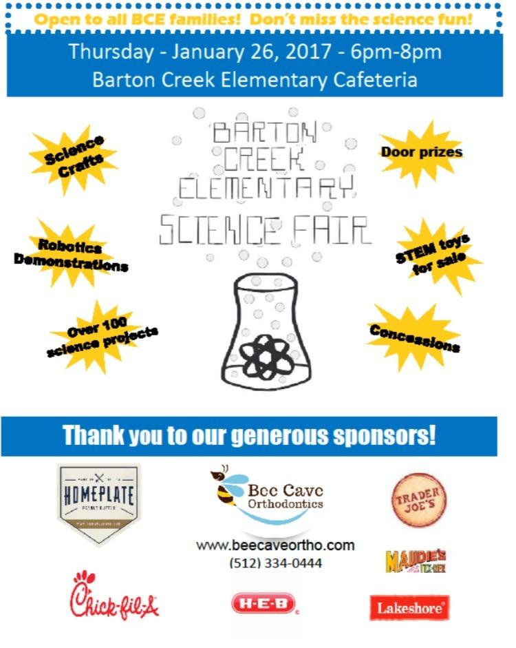 science fair flyer